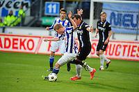 VOETBAL: HEERENVEEN: Abe Lenstra Stadion, SC Heerenveen - Vitesse, 21-01-2012, Doke Schmidt (#36), Nicky Hofs (#7), Eindstand 1-1, ©foto Martin de Jong