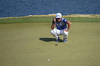 Rafael Cabrera Bello (ESP) lines up his par putt on 11 during day 1 of the WGC Dell Match Play, at the Austin Country Club, Austin, Texas, USA. 3/27/2019.<br /> Picture: Golffile | Ken Murray<br /> <br /> <br /> All photo usage must carry mandatory copyright credit (© Golffile | Ken Murray)