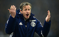 FUSSBALL   1. BUNDESLIGA   SAISON 2012/2013    23. SPIELTAG FC Schalke 04 - Fortuna Duesseldorf                        23.02.2013 Trainer Jens Keller (FC Schalke 04)