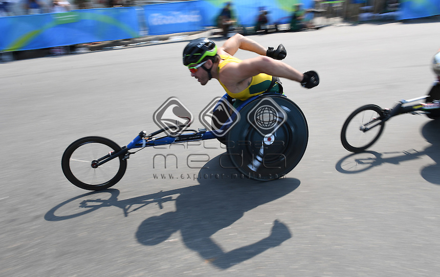 Kurt Fearnley AUS wins Silver in the Men's Marathon.<br /> Athletics - Rio 2016 Paralympics  Games <br /> September 17, 2017<br /> Olympic Stadium, Rio de Janeiro, Brasil (Brazil)<br /> &copy; Sport the library / Courtney Crow