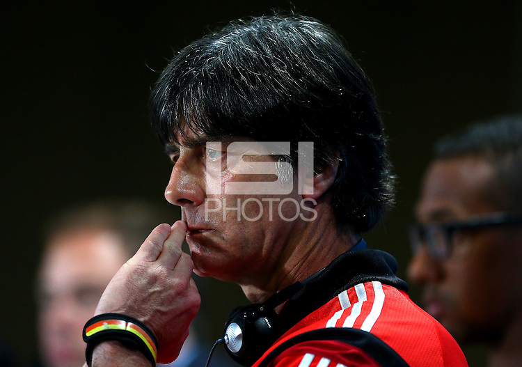 Germany coach Joachim Loew during a press conference ahead of tomorrow's semi final vs Brazil