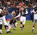 ROBBIE GOULD (9), of the Chicago Bears, in action during the Bears preseason game against the Denver Broncos on August 9, 2012 at Soldier Field in Chicago, IL. The Broncos beat the Bears 31-3.