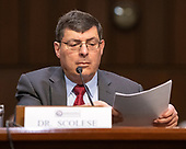 Dr. Christopher Scolese, Director, NASA Goddard Space Flight Center, testifies before the United States Senate Select Committee on Intelligence on his nomination to be the Director of the National Reconnaissance Office (NRO), on Capitol Hill on May 1, 2019<br /> Credit: Ron Sachs / CNP