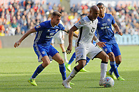 Andre Ayew of Swansea City (C) in action during the Sky Bet Championship match between Swansea City and Cardiff City at the Liberty Stadium, Swansea, Wales, UK. Sunday 27 October 2019