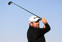 Shane Lowry (IRL) on the 11th tee during Round 2 of the 2015 Alfred Dunhill Links Championship at Kingsbarns in Scotland on 2/10/15.<br /> Picture: Thos Caffrey | Golffile
