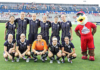 Starting eleven of the Washington Freedom during a WPS match against the Chicago Red Stars at the Maryland Soccerplex, in Boyds Maryland on June 12 2010. The game ended in a 2-2 tie.
