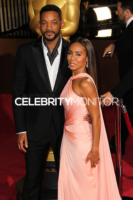 HOLLYWOOD, LOS ANGELES, CA, USA - MARCH 02: Will Smith, Jada Pinkett Smith at the 86th Annual Academy Awards held at Dolby Theatre on March 2, 2014 in Hollywood, Los Angeles, California, United States. (Photo by Xavier Collin/Celebrity Monitor)