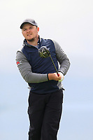 Eddie Pepperell (ENG) on the 5th tee during Round 1 of the Open de Espana 2018 at Centro Nacional de Golf on Thursday 12th April 2018.<br /> Picture:  Thos Caffrey / www.golffile.ie<br /> <br /> All photo usage must carry mandatory copyright credit (&copy; Golffile | Thos Caffrey)