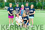 Enjoying Tralee Tennis Club  Tennis Charity Day in aid of the National Council for the Blind Ireland (NCBI) on Saturday were front Oscar Atkins and Nuala Finnegan back -r  Pam Bailly, Stephen Roche, Roberta Kneeshaw, Shane Roche, Catherine Casey
