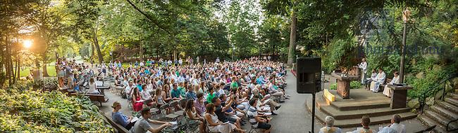 Jul. 23, 2015; ACE Grotto prayer service (Photo by Matt Cashore/University of Notre Dame)