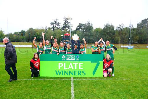 23.08.2015. Dublin, Ireland. Women's Sevens Series Qualifier 2015. Brazil versus Hong Kong<br /> Brazil celebrate winning the plate.