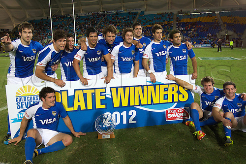 19.10.2012. Gold Coast, Australia.  Argentina Sevens - Gold Coast Sevens 2012 - Skilled Park Stadium  HSBC Sevens World Series