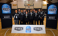 Match officials from the 2019 Schick AA Secondary Schools Basketball National Championship finals at the Central Energy Trust Arena in Palmerston North, New Zealand on Saturday, 5 October 2019. Photo: Dave Lintott / lintottphoto.co.nz