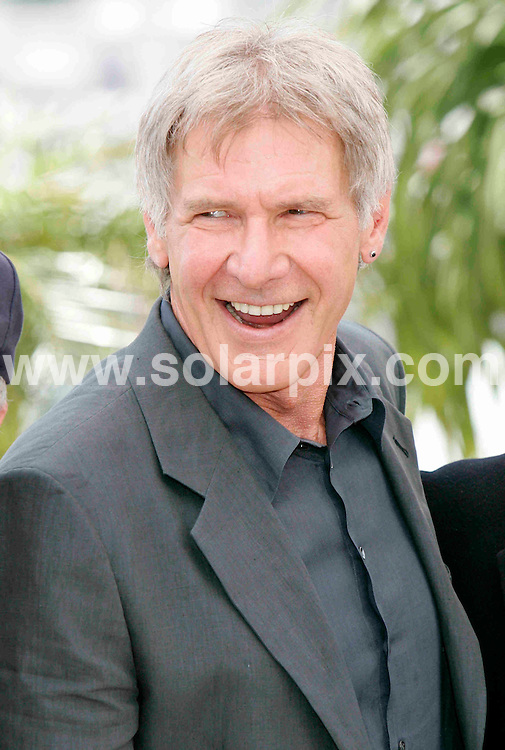**ALL ROUND PICTURES FROM SOLARPIX.COM**.**SYNDICATION RIGHTS FOR UK, SPAIN, PORTUGAL, AUSTRALIA, S.AFRICA & DUBAI (U.A.E) ONLY**.Shia LaBeouf (L-R), George Lucas, Steven Spielberg, Harrison Ford and Cate Blanchett at the photocall of 'Indiana Jones and the Kingdom of the Crystal Skull' in Cannes..This pic. Harrison Ford .JOB REF: 6449    CPR    DATE: 18.05.08.**MUST CREDIT SOLARPIX.COM OR DOUBLE FEE WILL BE CHARGED* *UNDER NO CIRCUMSTANCES IS THIS IMAGE TO BE REPRODUCED FOR ANY ONLINE EDITION WITHOUT PRIOR PERMISSION*