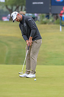 Ryan Moore (USA) watches his putt on 1 during Round 3 of the Valero Texas Open, AT&amp;T Oaks Course, TPC San Antonio, San Antonio, Texas, USA. 4/21/2018.<br /> Picture: Golffile   Ken Murray<br /> <br /> <br /> All photo usage must carry mandatory copyright credit (&copy; Golffile   Ken Murray)
