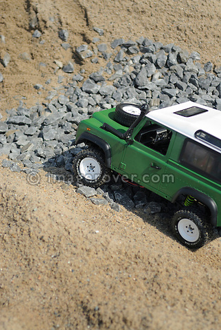 Germany, Bad Kissingen, Allrad Messe, 15-18.06.2006. Thomas Kastens remote controlled model Land Rover 90. --- No releases available. Automotive trademarks are the property of the trademark holder, authorization may be needed for some uses.