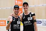 04.01.2019, Den Haag, Sportcampus Zuiderpark<br />Beachvolleyball, FIVB World Tour, 2019 DELA Beach Open<br /><br />Jubel Clemens Wickler (#2), Julius Thole (#1) nach Sieg<br /><br />  Foto &copy; nordphoto / Kurth