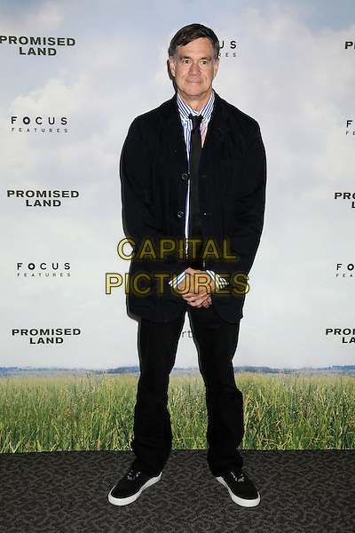 "Gus Van Sant.""Promised Land"" Los Angeles Premiere held at the Directors Guild of America, West Hollywood, California, USA, .6th December 2012.full length  blue white striped shirt black tie trousers jacket navy trainers .CAP/ADM/BP.©Byron Purvis/AdMedia/Capital Pictures."
