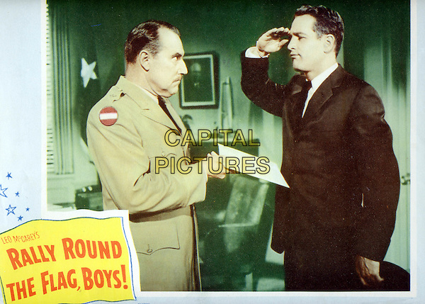 GALE GORDON & PAUL NEWMAN.in Rally 'Round the Flag, Boys!.*Filmstill - Editorial Use Only*.CAP/FB.Supplied by Capital Pictures.