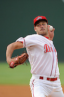 Starting pitcher Cody Kukuk (25) of the Greenville Drive in a game against the Rome Braves on Tuesday, August 20, 2013, at Fluor Field at the West End in Greenville, South Carolina. (Tom Priddy/Four Seam Images)