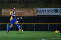 Connor Hammond of Romford scores the first goal for his team during Romford vs Haringey Borough, Bostik League Division 1 North Football at Ship Lane on 8th November 2017