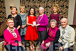 l-r  Marie O'Sullivan who was presented with The Heritage Award of The Kerry Archaeological and Historical Society by Maureen Hanafin, President of The Archaelogical and Historical Society at Fels Point Hotel on Sunday. Pictured l-r  Nora O'Leary, Kitty Palmer and Willie Palmer. Back l-r  Miriam McFarlin, Joan Barry O'Shea, Marie O'Sullivan, Maureen Hanafin and Brid O'Shea