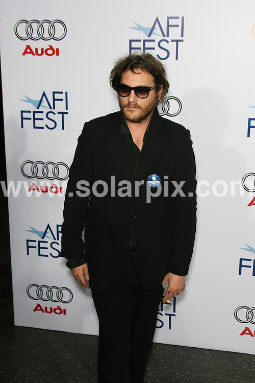 "**ALL ROUND PICTURES FROM SOLARPIX.COM**.**SYNDICATION RIGHTS FOR UK, SPAIN, PORTUGAL, AUSTRALIA, S.AFRICA & DUBAI (U.A.E) ONLY**.2008 AFI FEST Los Angeles Premiere of ""Che"" - Grauman's Chinese Theater - Hollywood. 1st November 2008..This pic: Joaquin Phoenix..JOB REF: 7785 PHZ (Hatcher)   DATE: 01_11_2008.**MUST CREDIT SOLARPIX.COM OR DOUBLE FEE WILL BE CHARGED* *UNDER NO CIRCUMSTANCES IS THIS IMAGE TO BE REPRODUCED FOR ANY ONLINE EDITION WITHOUT PRIOR PERMISSION*"