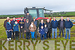 ANNOUNCING:Ballyheigue ploughing club who announced details of the forthcoming Ballyheigue Ploughing competition on Saturday morning on Myles and Caroline Cronins Land, Ballyheigue, L-r: Aideen Corridon, Liam O'Mahony, Nicky O'Halloran, Derek O'Driscoll, Myles Cronin (snr), Myles Cronin (jnr),Michael Hanlon,Sharon Healy,Mylo Cronin, Patsy Cronin, Ava Cronin, Caroline Cronin, Micheal Corridon, Philip Healy and John Corriodon. Chriopher Healy.