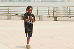 Raif at Hearts of Gold Run/Walk for Kids 2018 join with kids and their moms in New York City, New York. After the walk they did tug of war, hop scotch, card games, exercise, food, a fun day on the pier. (Photo by Sue Coflin/Max Photo)