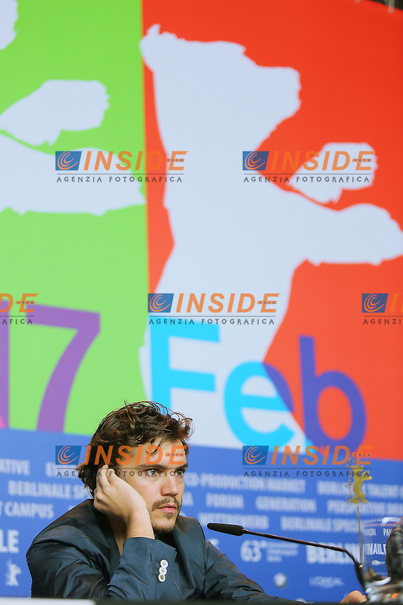 Emile Hirsch. Berlin 13/02/2013. 63th Berlinale 'Prince Avalanche' Press Confernce. foto Mark Cape/Insidefoto