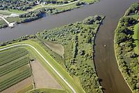 Spadenlaender Spitze: EUROPA, DEUTSCHLAND, HAMBURG, BERGEDORF, (EUROPE, GERMANY), 28.08.2014: Spadenlaender Spitze, Zufluss der Dove Elbe in den Hauptstrom