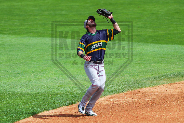 APPLETON - August 2014: Branden Cogswell (13) of the Beloit Snappers during a game against the Wisconsin Timber Rattlers on August 26th, 2014 at Fox Cities Stadium in Appleton, Wisconsin.  (Photo Credit: Brad Krause)