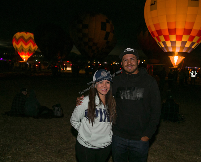Precious and Tyler during dawn patrol at the Great Reno Balloon Races held on Saturday, Sept. 8, 2018.