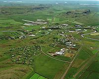 Flúðir, Hrunamannahreppur séð til suðausturs..Fludir, Hrunamannahreppur viewing southeast.