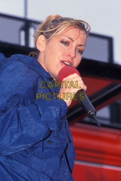 ALL SAINTS - NATALIE APPLETON.singing, live, concert, raining.Ref: 7653.www.capitalpictures.com.sales@capitalpictures.com.© Capital Pictures