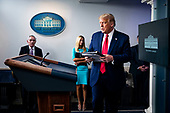 United States President Donald J. Trump speaks during a news conference in the James S. Brady Press Briefing Room at the White House, on Wednesday, September 16, 2020.<br /> Credit: Al Drago / Pool via CNP