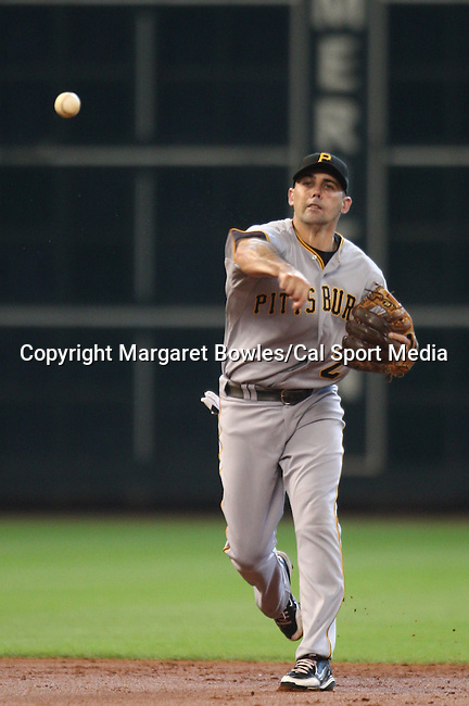 July 8, 2009:  Pittsburgh Pirates shortstop Jack Wilson makes the throw to first base.  The Houston Astros defeated the Pittsburg Pirates 5-0 at Minute Maid Park in Houston, Texas. Margaret Bowles/CSM