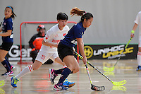 Malaysia's Ivana Sonia Anak Beriak in action during the World Floorball Championships 2017 Qualification for Asia Oceania Region - Malaysia v China at ASB Sports Centre , Wellington, New Zealand on Sunday 5 February 2017.<br /> Photo by Masanori Udagawa<br /> www.photowellington.photoshelter.com.