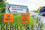 The signage on the Tralee to Castleisland Rd at Gortatlea