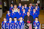 Niamh Ni Dhubhda (Teacher) with her pupils from CBS Primary School, Tralee, after they were confirmed by Bishop Bill Murphy on Friday in St Johns Church. Front row l-r: Sean McCrohan, James Mannix, Darren Cronin, Tony OBrien and Killian McGovern. Middle row l-r: Jamie OSullivan, Kamil Kozlowski, Rafal Janusz, Danny OConnor, Adam Leahy and Luke Horan. Back row l-r: Neil Sankar, James OCallaghan, Dara OConnor, Gary Murphy, Kenneth Costello, TJ Trant, Michael Kenny and Tommy Coffey..