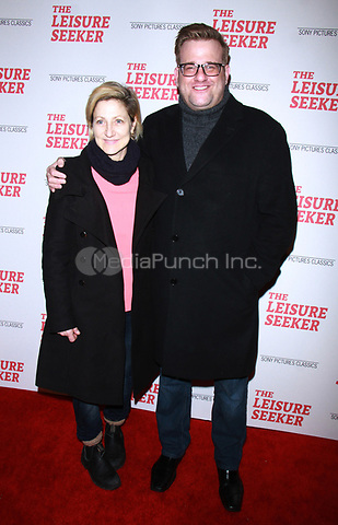 NEW YORK, NY January 11, 2018:Edie Falco, Stephen Wallem attend Sony Pictures Classics  present screening of The Leisure Seeker  at AMC Loews Lincoln Square  in New York City.January  11, 2018. Credit:RW/MediaPunch