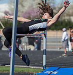 Incline's Sarah Giangreco competes in the girls high jump during the Reed Sparks Rotary Invitational track and field event at Reed High School in Sparks, Saturday, April 1, 2017.