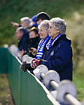 Pickering fans watching the game. Stocksbridge Park Steels v Pickering Town,  Evo-Stik East Division, 17th November 2018. Stocksbridge Park Steels were born from the works team of the local British Steel plant that dominates the town north of Sheffield.<br />