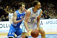 GRONINGEN - Basketbal, Donar - Landstede Zwolle, Martiniplaza, Dutch Basketbal league, seizoen 2018-2019, 02-02-2019, Donar speler Drago Pasalic ,et Landstede speler Noah Dahlman