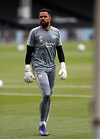 4th July 2020; Craven Cottage, London, England; English Championship Football, Fulham versus Birmingham City; Goalkeeper Jordan Archer of Fulham during warm up