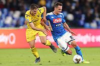 Arkadiusz Milik of Napoli in action<br /> Napoli 19-10-2019 Stadio San Paolo <br /> Football Serie A 2019/2020 <br /> SSC Napoli - Hellas Verona FC<br /> Photo Cesare Purini / Insidefoto