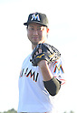Junichi Tazawa (Marlins),<br /> FEBRUARY 18, 2017 - MLB :<br /> Miami Marlins Photo Day in Jupiter, Florida, United States. (Photo by AFLO)