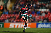 George Ford of Leicester Tigers kicks for touch. Gallagher Premiership match, between Leicester Tigers and Worcester Warriors on September 21, 2018 at Welford Road in Leicester, England. Photo by: Patrick Khachfe / JMP