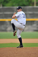 Pitcher Chad Martin (39) of the Pulaski Yankees delivers a pitch in a game against the Bristol Pirates on Tuesday, July 5, 2016, at Calfee Park in Pulaski, Virginia. Pulaski won, 6-3. (Tom Priddy/Four Seam Images)