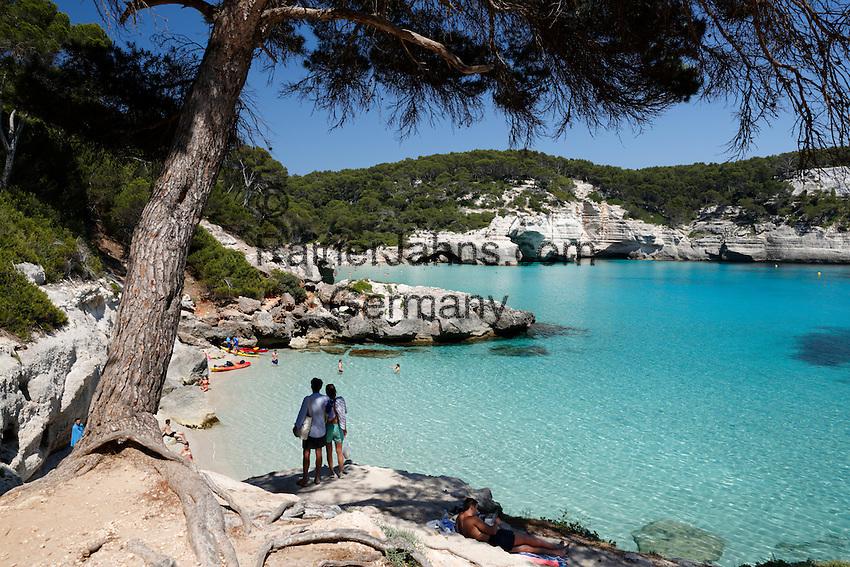 Spain, Menorca, near Cala Galdana: Cala Mitjana   Spanien, Menorca, bei Cala Galdana: Cala Mitjana
